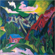 Premium poster  The Klosterser mountains - Ernst Ludwig Kirchner