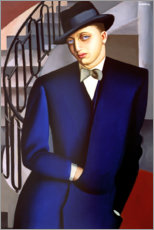 Wood print  Portrait of the Marquis of Afflitto in the staircase, 1926 - Tamara de Lempicka