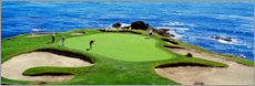 Canvas print  Golfer on the pebble beach