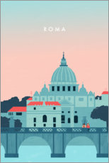 Canvas print  Illustration of Rome - Katinka Reinke
