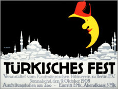 Premium poster Turkish festival (German)