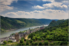 Wall sticker  View of the Rhine Valley near Oberwesel - Circumnavigation