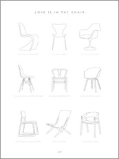 Premium poster Chair design classic
