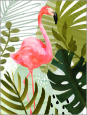 Canvas print  Flamingo Forest II - Victoria Borges
