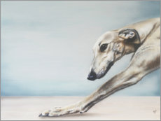 Wood print  Whippet - Victoria Coleman