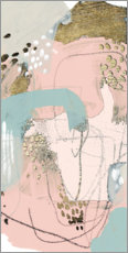Canvas print  Blush & Gold II - June Vess