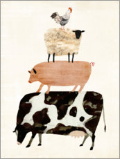 Canvas print  Animals on the farm - Victoria Borges