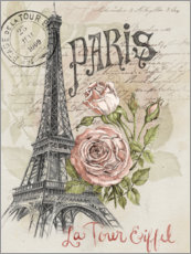 Premium poster  Paris and the Eiffel Tower - Jennifer Parker