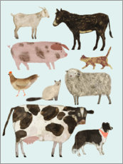 Premium poster Farm animals II