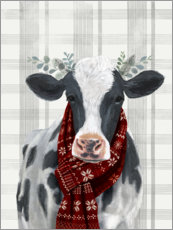 Canvas print  Christmas Cow I - Victoria Borges