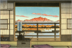 Premium poster  Morning at Hot Spring Resort in Arayu - Kawase Hasui