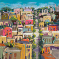 Canvas print  City color III - Jennifer Gardner