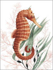 Premium poster Treasures of the sea horse I