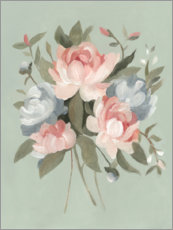 Premium poster Pastel-colored bouquet