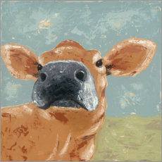 Canvas print  Cow on a farm - Jade Reynolds