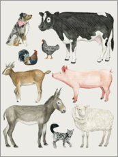 Wall sticker Farmyard family III
