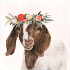Wall sticker Garden goat II