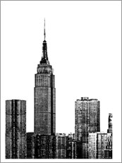 Wood print  New York III - Jeff Pica