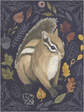 Wood print  Squirrel in the foliage - Grace Popp
