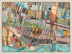 Canvas print  Modern map of Montreal - Nikki Galapon