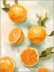 Premium poster  Fresh citrus fruits II - Emma Scarvey