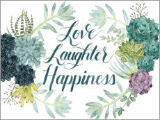 Acrylic print  Love laughter happiness (english) - Grace Popp