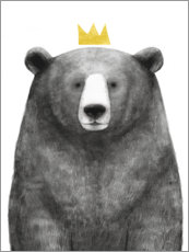 Foam board print  Royal Bear - Victoria Borges