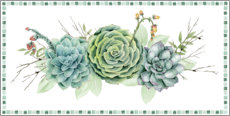 Premium poster Succulent collection D