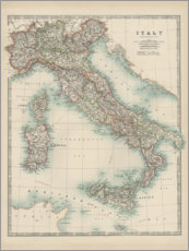 Aluminium print  Italy 19th century - Alexander Keith Johnston