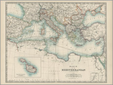 Foam board print  Mediterranean 19th century (English) - Alexander Keith Johnston