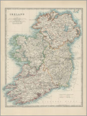 Wall sticker  Ireland 19th century - Alexander Keith Johnston