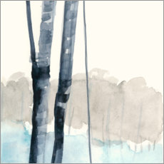 Premium poster Birches in the woods i