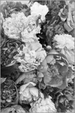 Wood print  Peonies Black and White - Studio Nahili