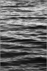 Wood print  Black ocean - Studio Nahili