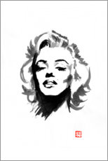 Wood print  Marilyn Monroe - Péchane
