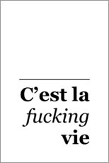 Wall sticker  C'est la Fucking Vie - Typobox