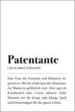 Premium poster Patentante definition (German)