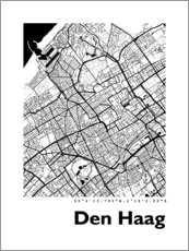 Premium poster City map of The Hague