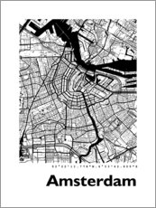 Wall sticker  Map of Amsterdam - 44spaces