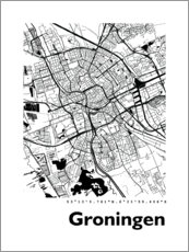 Premium poster City map of Groningen