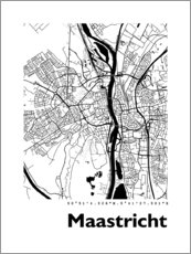 Premium poster  Map of Maastricht - 44spaces