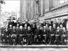 Aluminium print  Fifth Solvay Conference, 1927