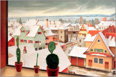 Gallery print  Winter landscape - view from the studio - Rudolf Wacker