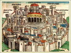 Gallery print  Jerusalem in 1490 - Michael Wohlgemut