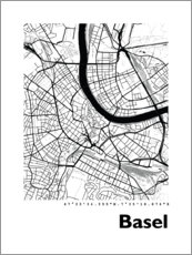Premium poster City map of Basel
