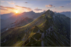 Premium poster Sunrise in the Alps - Switzerland