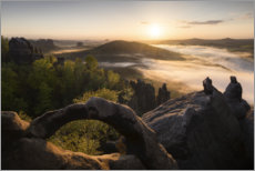 Wood print  Scenic view in Saxon Switzerland - Tobias Richter