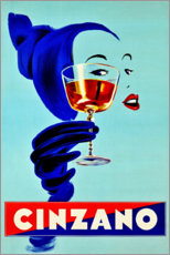 Wood print  Cinzano - Prost - Advertising Collection