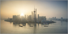 Canvas print  Shanghai skyline at sunrise - Jan Christopher Becke