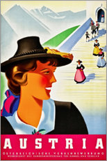 Premium poster  Austria (English) - Travel Collection